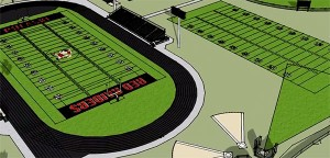 High School Athletic Fields Rendering