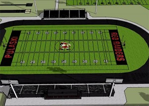 High School Football Field Rendering